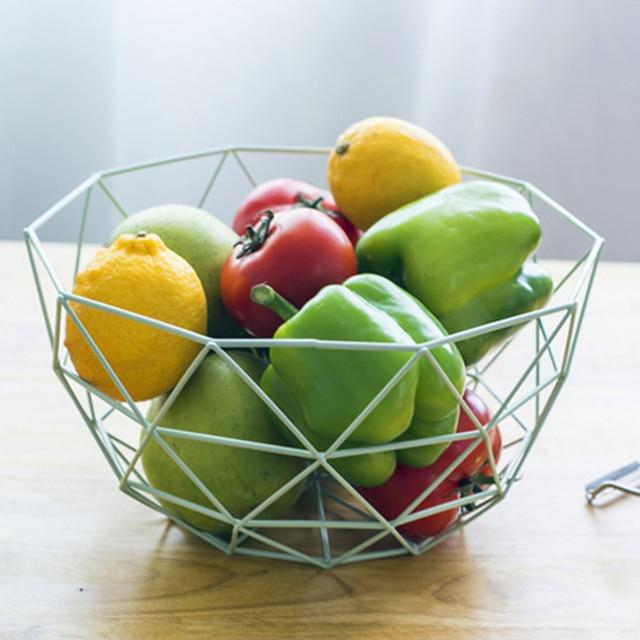 Fruit Basket For Kitchen Used Tables Sale Moedern Original Design Iron Snack Storage Baskets Accessories Plate Living Room