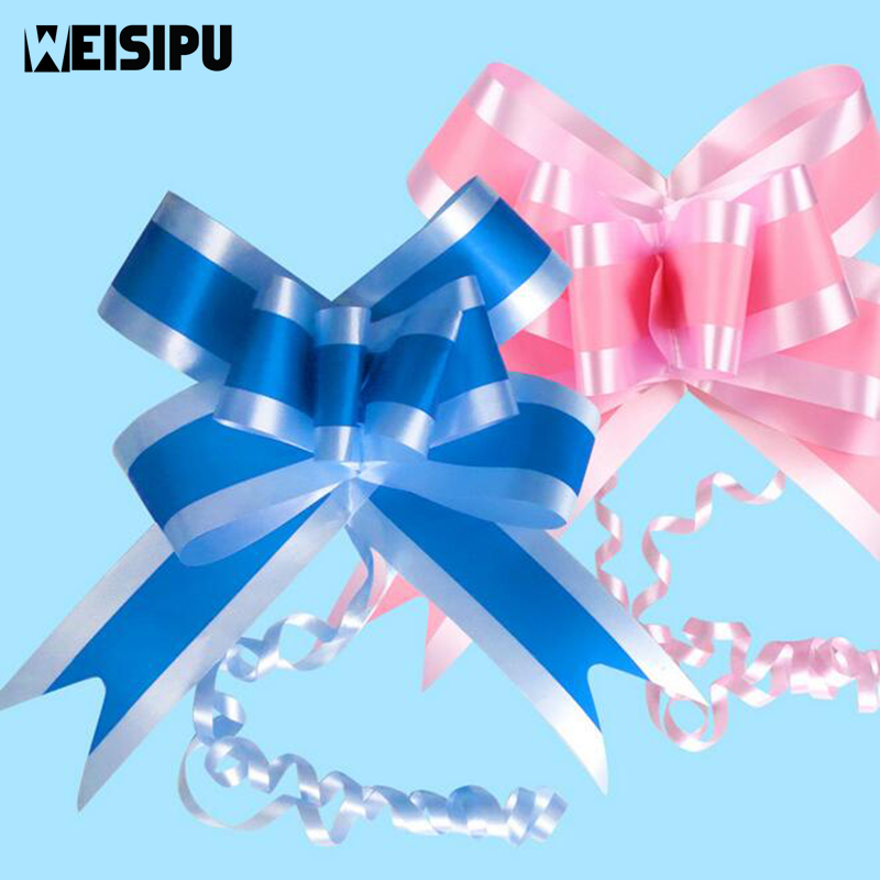 Gift Bags & Wrapping Supplies 10pcs/lot 2 Colors Pull Bows Ribbon Wedding Centerpieces Wedding Car Decoration Gift Packaging Packing Comfortable And Easy To Wear