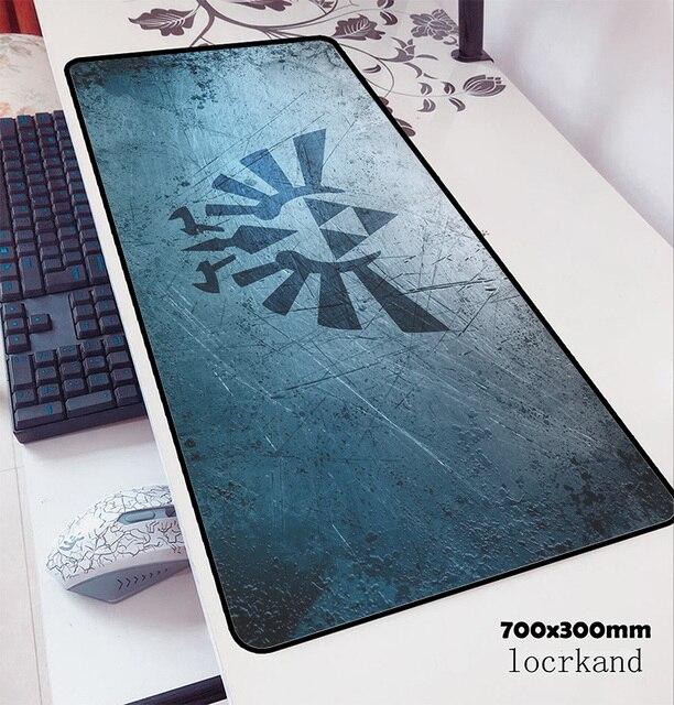 Zelda podkładka pod mysz 70x30cm podkładka pod mysz gamingową anime wysokiej jakości biuro notbook podkład na biurko HD drukuj padmouse gry komputer dla graczy maty