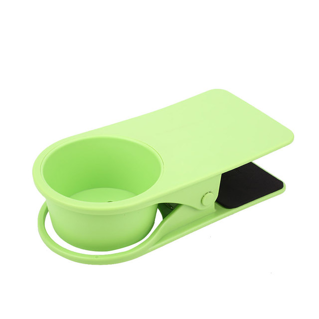 Table Desk Water Drink Coffee Cup Holder Clip Clamp Storage Rack Office
