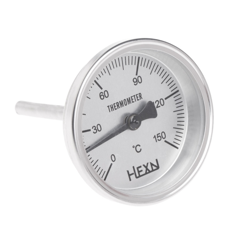 <font><b>1/4</b></font> PT Thread Stainless Steel Thermometer Moonshine Kitchen Food Cooking Gauge-<font><b>m18</b></font> image