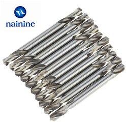 10 Stücke 3/3. 2/3. 5/4/4,5/5mm HSS Doppelseitige Spiral Drill Bits Spiralbohrer Tools Set Freies Verschiffen TL20