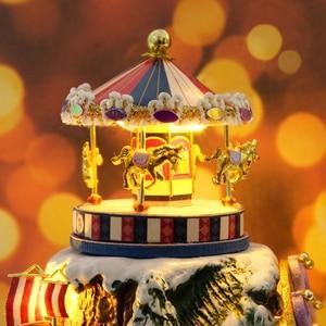 Image 2 - Leuke Kamer DIY Poppenhuis Miniaturen Doll Huis Stofkap Met Meubels Miniatuur Houten Huis Model Speelgoed Voor Kinderen B030 # E