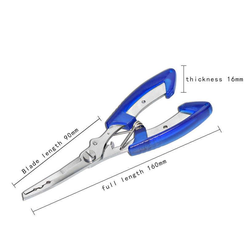 New Fishing Multifunctional Pliers fish line Cutter Scissors Black/Blue/Orange Mini fish hook remover EDC tools Beak jaw