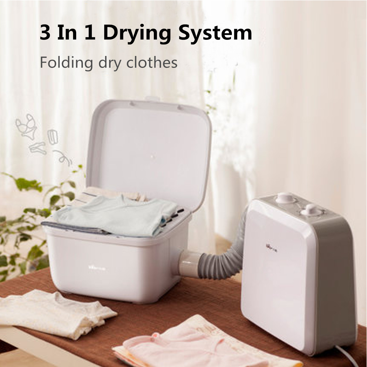 Electric Heater Household Clothes Dryer Quick Drying Clothes Drying Quilt Wardrobe Machine Home High Temperature Air Dryer RackElectric Heater Household Clothes Dryer Quick Drying Clothes Drying Quilt Wardrobe Machine Home High Temperature Air Dryer Rack