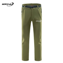 2016 Men Outdoor Sport Softshell skiing Pants Breathable Waterproof Windstopper Hunting Climbing Camping Hiking Snowboard
