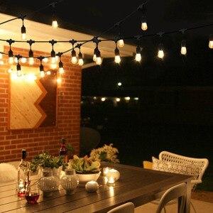 Image 4 - IP65 屋外 led ストリングライト 10 メートルゲージ黒のケーブル 10 4 ワットエジソン電球最適な装飾パティオガーデンパーティークリスマス