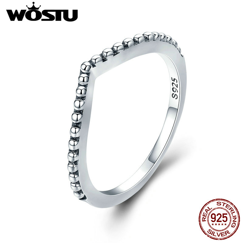 3 X GENUINE 925 STERLING SILVER SPARKLING SHIMMERING WISHBONE STACKING RINGS,