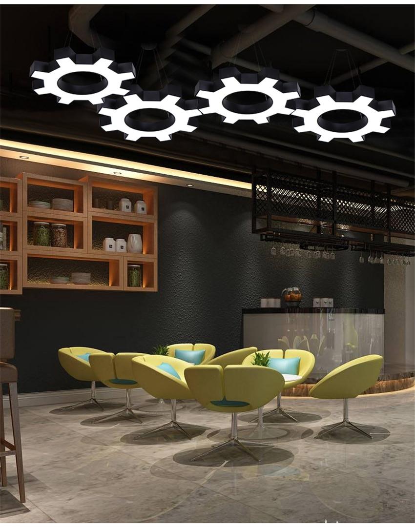 Industrial Loft Gear Pendant Lights Office Led Art Deco Pendant Lamps Modern Minimalist Cafe Gym Iron Dining Kitchen Lighting Pendant Lights Aliexpress