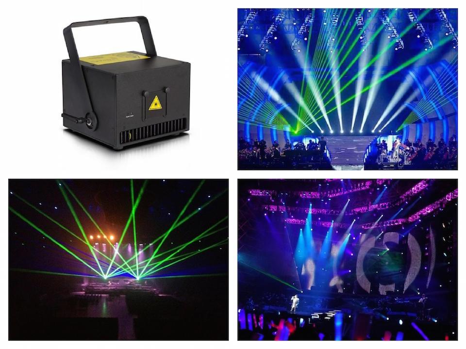 Full Color 3W RGB Animation Laser Stage Light Analog 20Kpps scanner ILDA DMX512-Sound-Auto-SD lazer