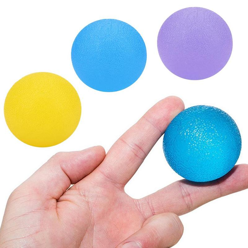 Silicone Massage Therapy Grip Ball For Hand Finger Strength Exercise Stress Relief Decompression Ball Fitness Equipment