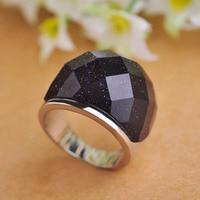 Luxurious Semi Precious Stone Rings For Men Women Party 2016 Brand Bijoux Rhodium Plated Big White
