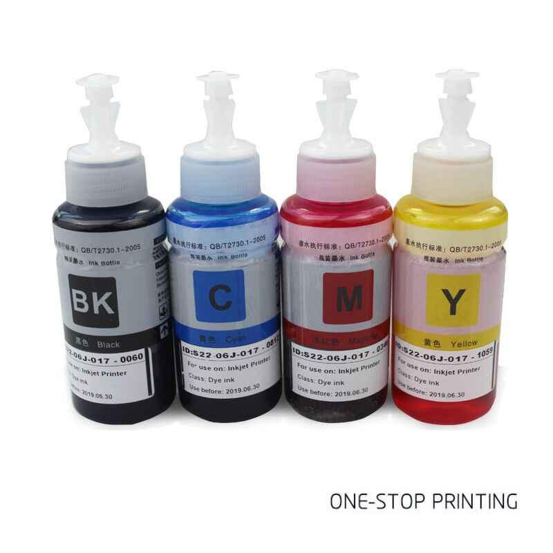 4 Warna T664 Isi Ulang Tinta Dye Printer L100 L110 L120 L130 L132 L200 L210 L220 L222 L310 L312 L350 l355 L360 L362 L365 L366 L455