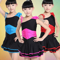 New Girls Ruffled Professional Ballroom Latin Salsa Cha Cha Dance Competition Dresses for Kid Dancewear Costumes Dancing Clothes