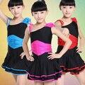 Niños Volantes Profesional Latin Salsa Cha Cha Ballroom Dance Competition Vestidos de Disfraces para Niñas Ropa Danza Ropa Ropa