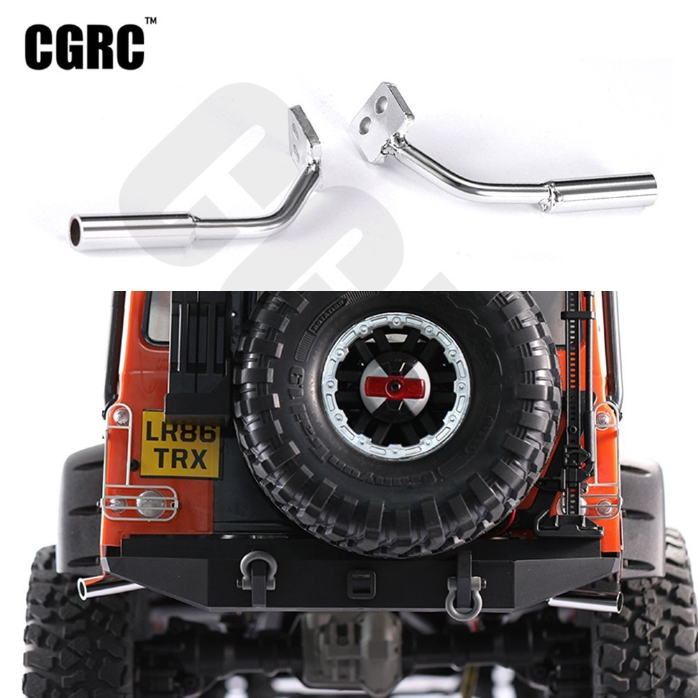 RC Car Metal Tail Double Exhaust Pipe For 1/10 RC Crawler Car TRX4 TRX-4 82056-4
