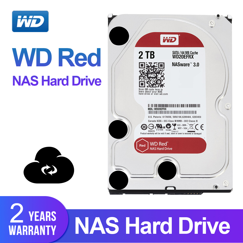 "WD Red 2TB Network Storage Hdd 3.5"" NAS Hard Disk Red Disk 2TB 5400 RPM 64M Cache SATA3 6Gb/S HDD WD20EFRX"