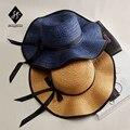 Proteção UV chapéus de Sol sombreamento das mulheres com um grande dossel ao longo a grama Chapéu Senhora sol de verão moda praia chapéu de sol A126