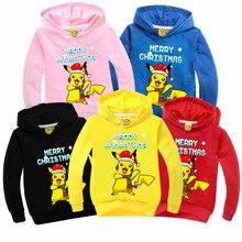 Christmas Gifts Boys Clothing 2016 Autumn Kids T-shirt Pokemons Go Cartoon T Shirts Cotton Tees Boys Girls Tops Kids Costume