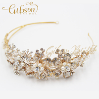 Free Shipping Double Band Rhinstone And Crystal Bridal Tiara Wedding Accessories 2014