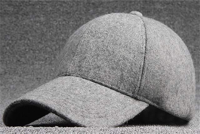 e507cad4a94 Online Shop Bulk Hats 25pcs Black Wool Felt Baseball Hat for Winter 2017  NEW Womens Plain Grey Base Ball Cap Men Blank Strap Back Ball Caps