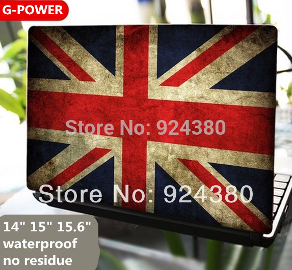Hot sale union jack english uk flag vinilo decal 14 15 15 6 inch laptop skin sticker for lenovo asus samsung msi notebookm2s1 in wall stickers from home