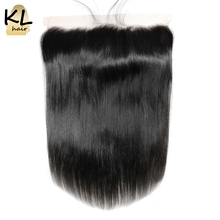 KL Hair Free Part 13×4 Ear To Ear Lace Frontal Closure Straight With Baby Hair Brazilian Human Remy Hair Closure Bleached Knots