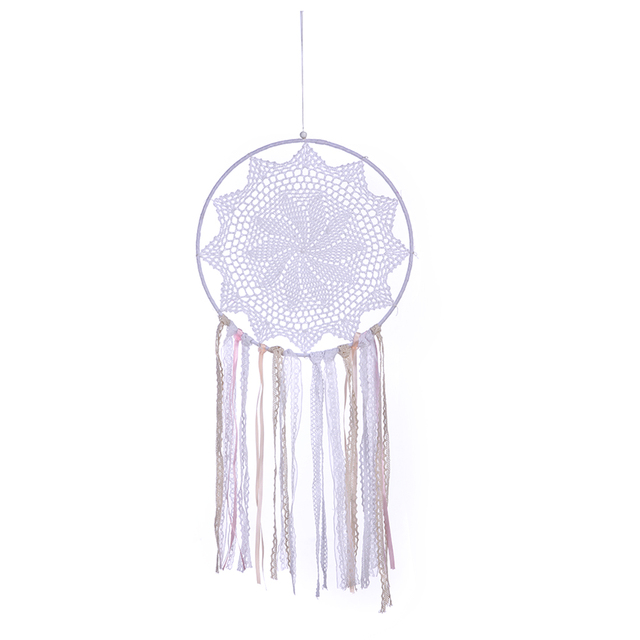 Lace Wall Hanging Dream Catcher Single Ring