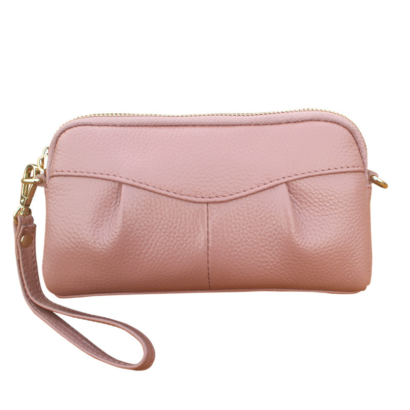 Women Clutch Wallet Genuine Leather Ladies Evening Bag Female Wristlet Long Purse Card Holder HandBag Zipper Shoulder Bags
