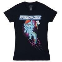 My Little Dashing Rainbow Dash Licensed Women S Junior T Shirt Fashion Brand Clothing Cute T