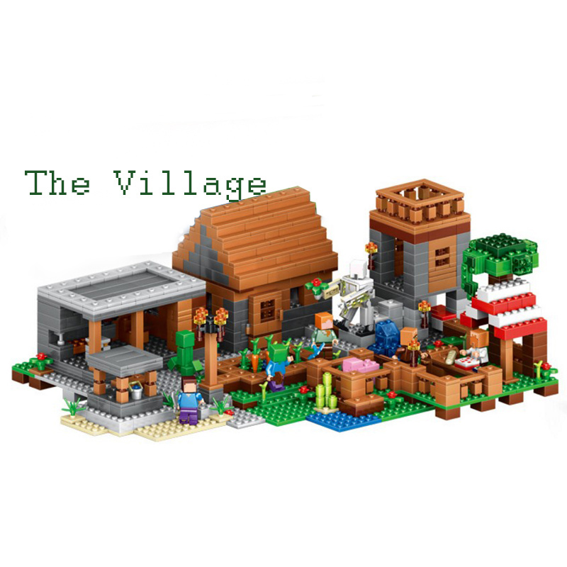 Lepin 1125pcs My World The Village Minecraft action anime figures Building Blocks Bricks toys for children gift compatible 21128 hot toys 10pcs lot generation 1 2 3 juguetes pvc minecraft toys micro world action figure set minecraft keychain anime figures