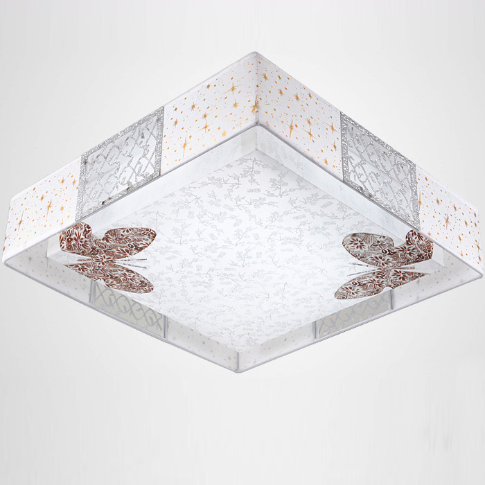48cm Modern cloth led ceiling lights fashion brief faux butterfly ceiling light lamp lighting fixture dining ceiling lamps FG877