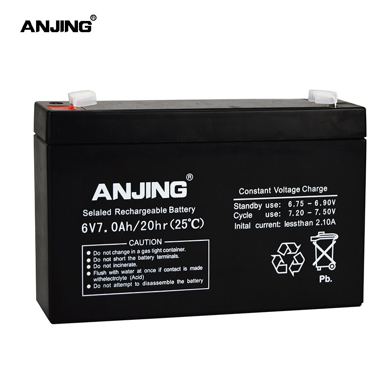 6V 7AH Battery 6V 7AH for Backup Power LED emergency Light Children Toy Car Lead-acid Accumulator Replacement Maintenance