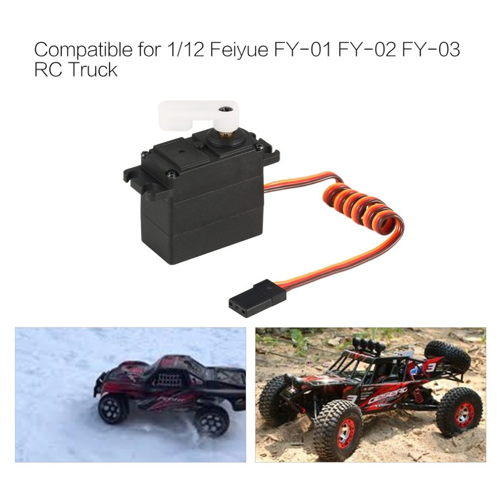 Metal Gear Steering Servo for 1//12 Feiyue FY-01 FY-02 FY-03 RC Car Truck Partg