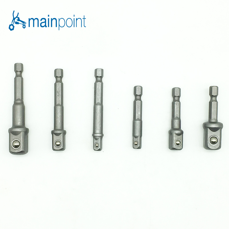 Mainpoint 6pcs Hex Socket Driver 1/43/81/2(50mm&65mm)Electric Screwdriver Head Connecting Rrod Shank Drill Chuck Sleeve Tool enchantimals пазл 64 магнитик пэттер павлина и флэп 03555