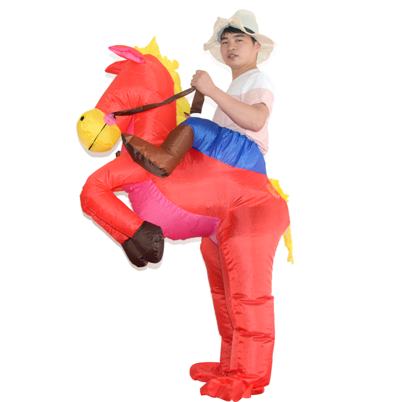 Halloween Masquerade inflatable clothing horse knight modeling children riding horse costumes adult costumes walking party