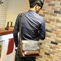 La nueva tendencia de los hombres retros del Mensajero diagonal de flujo cruzado de Corea Del Sur ocio maletín envío libre