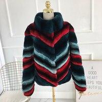 Настоящее пальто с мехом