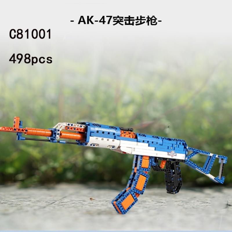Jouet pistolet LepinS arme pistolets AK47 musketry pistolet fusil à dispersion Swat armes à feu modèle Kits briques jouets enfants cadeau