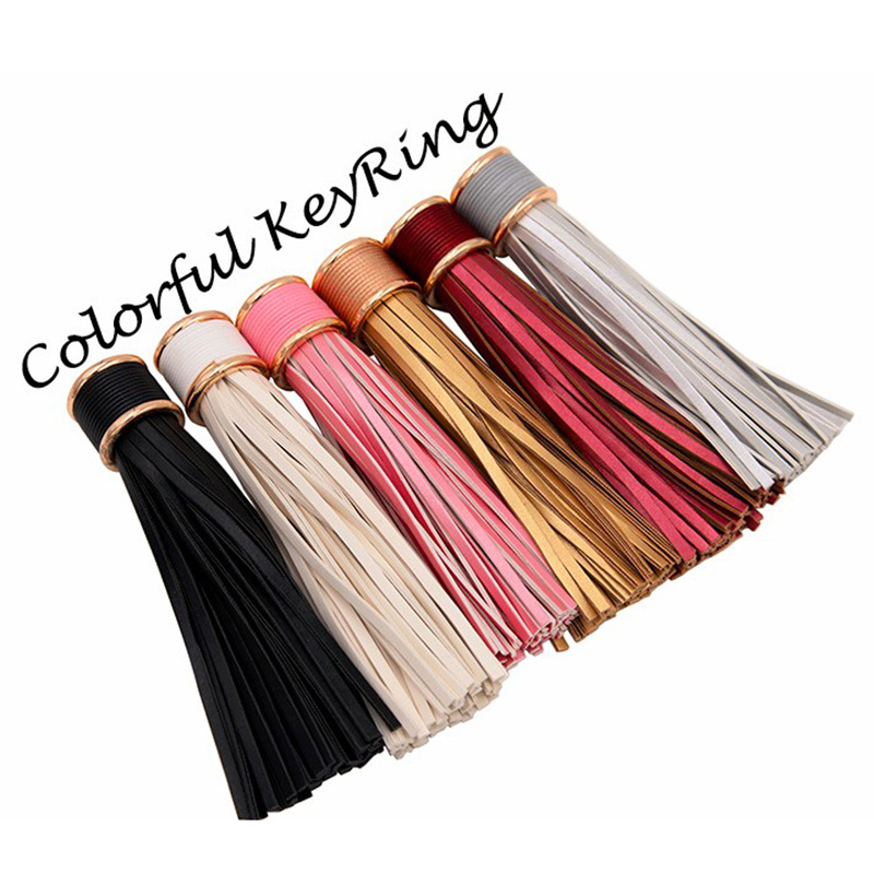 Multi Colores Opcionales de Imitación de Cuero Borla Llavero Bolso - Bisutería - foto 3