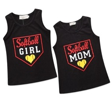 mother daughter vest tshirt family look mommy and me clothes matching outfits mom mama mum T shirt dresses clothing