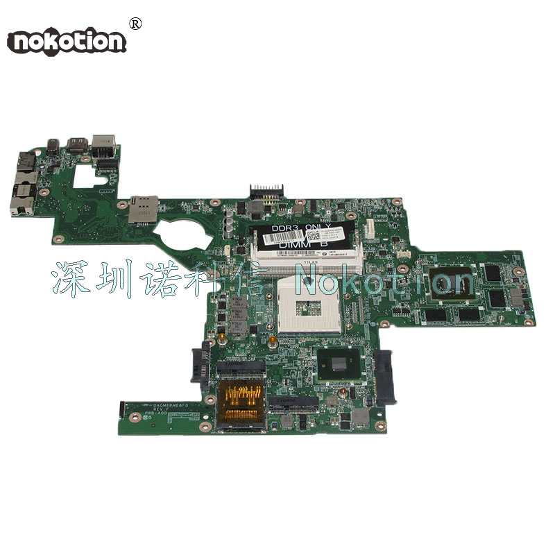 NOKOTION DAGM6BMB8F0 CN-0NWF36 0NWF36 NWF36 Laptop Motherboard For XPS L501X Main Board GT435M 2G works laptop speaker for dell xps l502x l501x left and right set subwoofer speakers