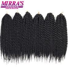 """Mirra's Mirror Гавана Mambo Twist волосы 1"""" 18"""" 2"""" крючком Косы черный коричневый Сенегальский синтетический плетение волос 12 корней/упаковка"""