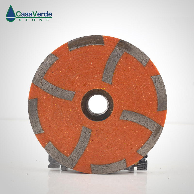 Free shipping medium# diamond filling resin grinding cup wheels 4 inch M14 or 5/8-11 thread for grinding concrete and stone diameter 50mm diamond sintered standard stubbing grinding wheels for stone processing