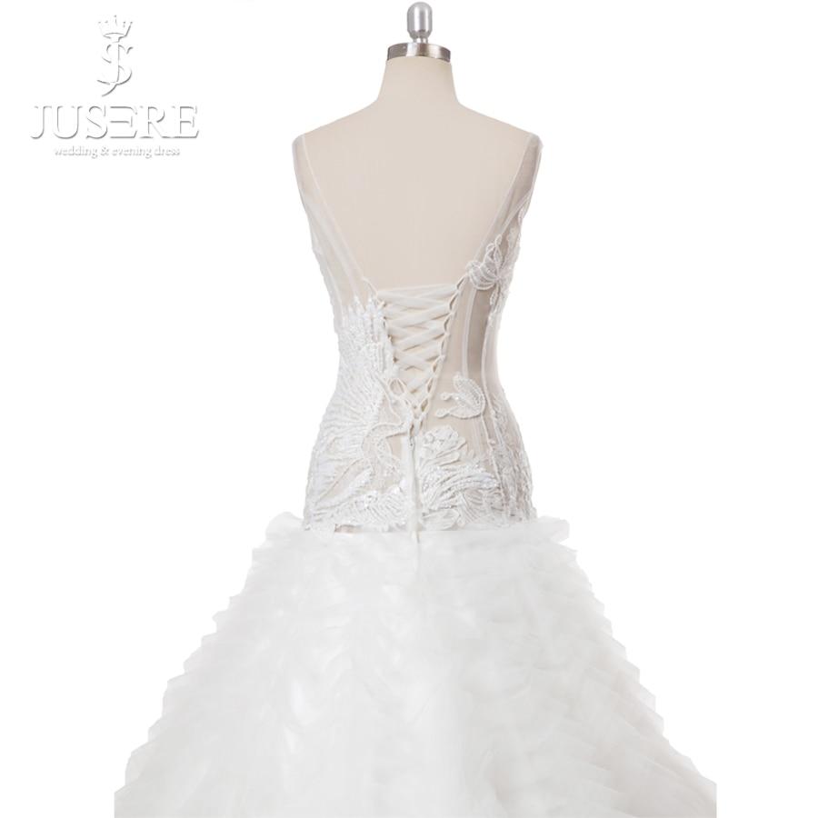 8d9a071499 US $1199.0 |Most Elegant Wedding Dresses 2018 Court Ruffle Train White  Wedding Dress Embroidery Crystal Beaded Bodice V Neck Bridal Dress-in  Wedding ...