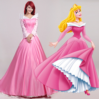Movie Sleeping Beauty Princess Aurora Luxury Fancy Adult Dress Woman Cosplay Costume
