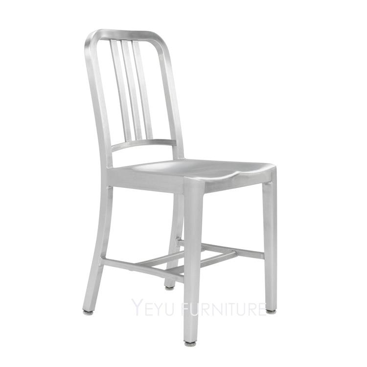 Fashion Loft Design Metal Aluminum Navy Chair, Modern Design Aluminum  Dining Chair, Outdoor Metal Aluminum Chair, Cafe Chair 1PC