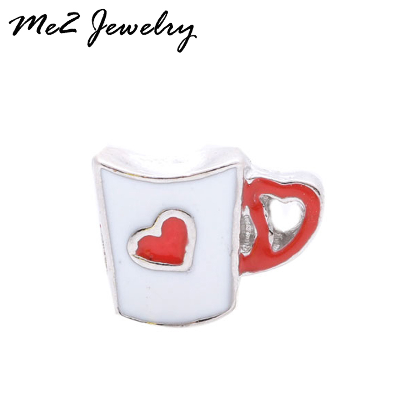 2017 Hot Sale Free shipping cup with heart Floating Locket Charm Fits Lockets free shipping