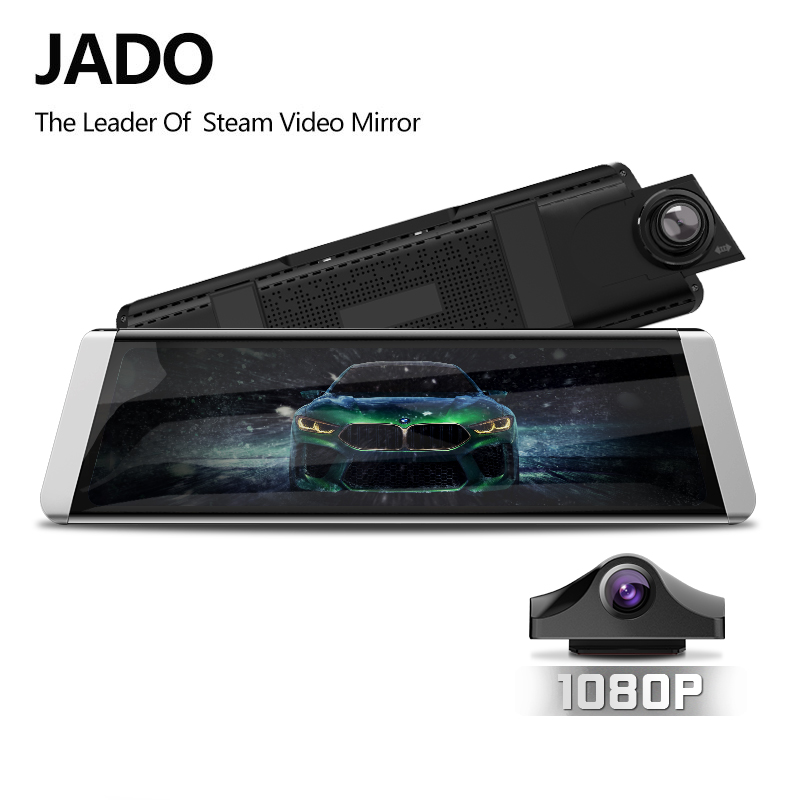 JADO D800s X7 Dash Cam Stream Rearview Mirror LDWS GPS Track 10 IPS Touch Screen Full HD 1080P Car Dvrs Recorder-in DVR/Dash Camera from Automobiles & Motorcycles
