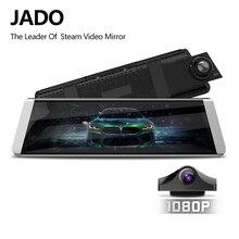 Jado d800s x7 대시 캠 스트림 백미러 ldws gps 트랙 10 ips 터치 스크린 풀 hd 1080 p 자동차 dvrs 레코더